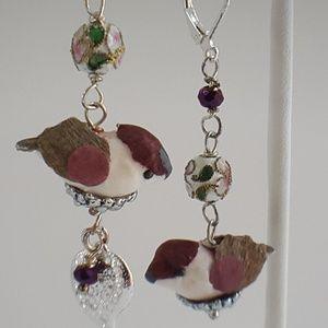 Designer Inspired Nesting Bird Dangles